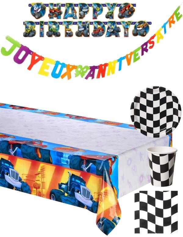 Pack décoration d'anniversaire Blaze et les monster machines
