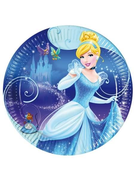 Pack décoration d'anniversaire Cendrillon princesses Disney Biogato - 2