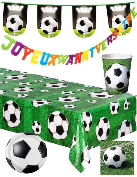 Pack décoration d'anniversaire football Biogato - 1