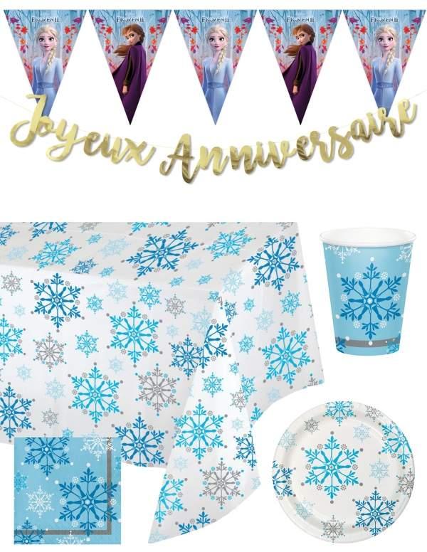 Pack décoration d'anniversaire Reine des neiges princesses Disney