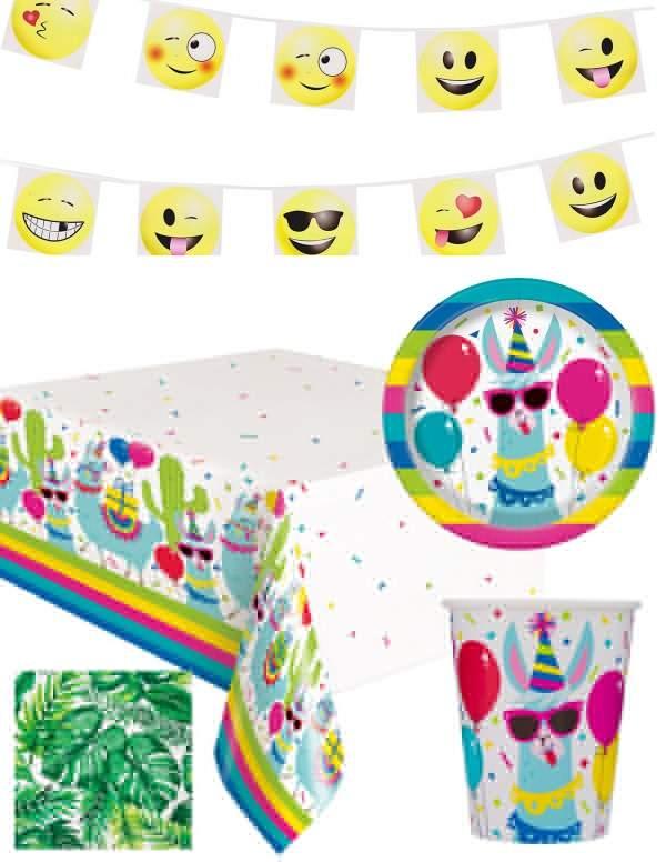 Pack décoration d'anniversaire Lama cool et festif (adolescent, adulte) Biogato - 1