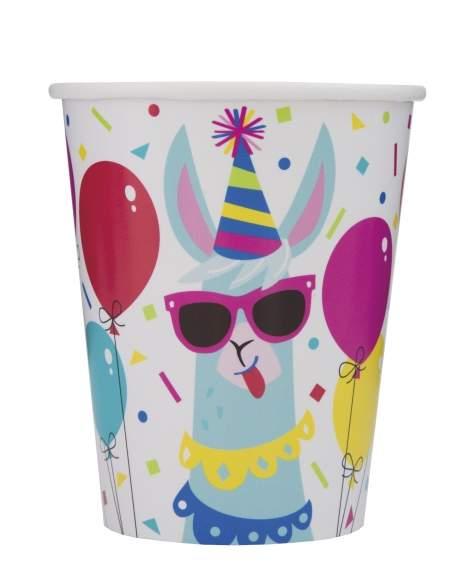 Pack décoration d'anniversaire Lama cool et festif (adolescent, adulte) Biogato - 5