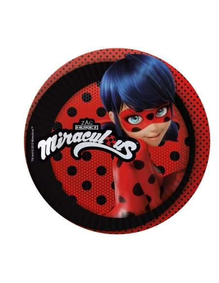 Pack décoration d'anniversaire Ladybug Miraculous Biogato - 3