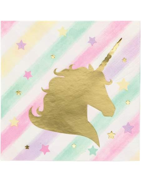 Pack décoration d'anniversaire licorne unicorn Biogato - 3