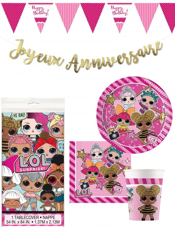 Pack décoration d'anniversaire LOL Surprise Biogato - 1