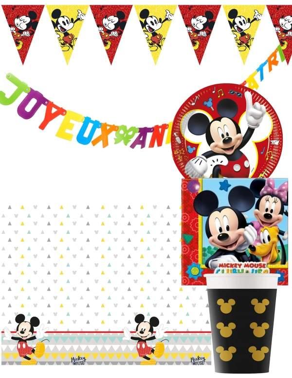 Pack décoration d'anniversaire Mickey Biogato - 1