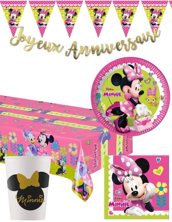 Pack décoration d'anniversaire Minnie Biogato - 1