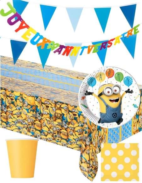 Pack décoration d'anniversaire Minions Moi, moche et méchant Biogato - 1