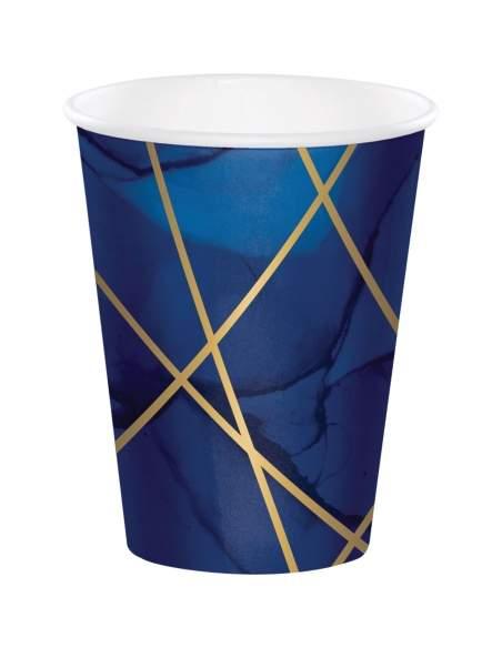 Pack décoration d'anniversaire bleu et doré (adulte, musique...)
