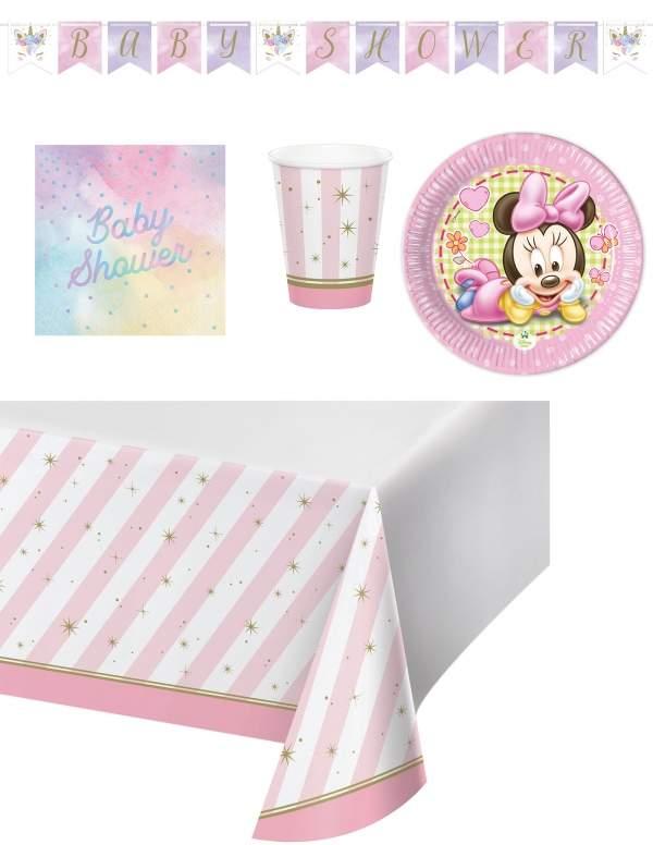 Pack décoration d'anniversaire Naissance Baby shower fille Biogato - 1