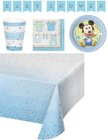 Pack décoration d'anniversaire Naissance Baby shower garçon Biogato - 1