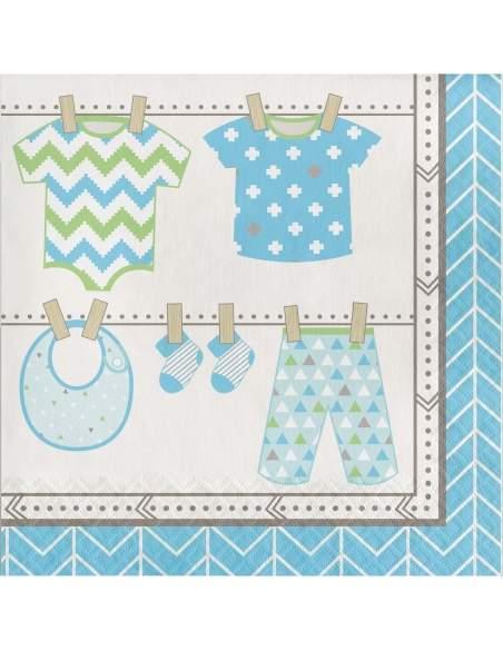 Pack décoration d'anniversaire Naissance Baby shower garçon Biogato - 7