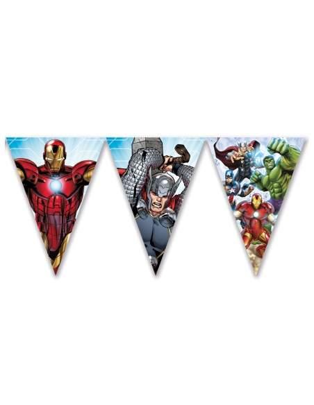 Pack décoration d'anniversaire Avengers Marvel super-héros Biogato - 3