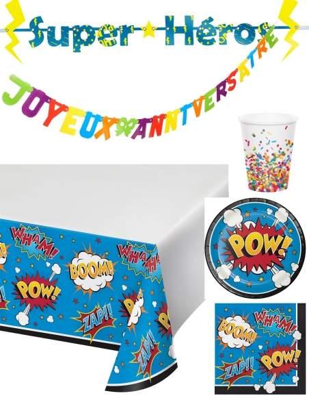 Pack décoration d'anniversaire BD Comics super-héros Biogato - 1