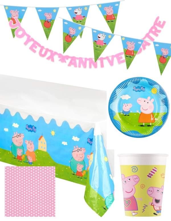 Pack décoration d'anniversaire Peppa pig Biogato - 1