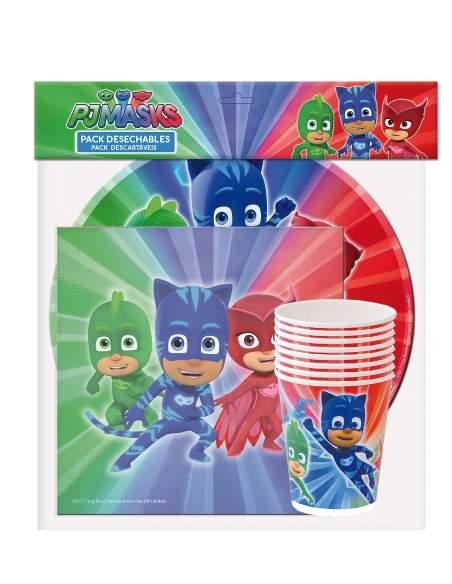 Pack décoration d'anniversaire Pyjamasque PJ Masks Biogato - 2
