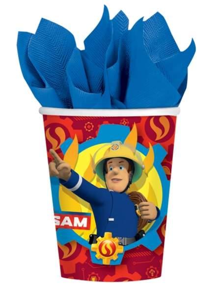 Pack décoration d'anniversaire pompier Biogato - 3