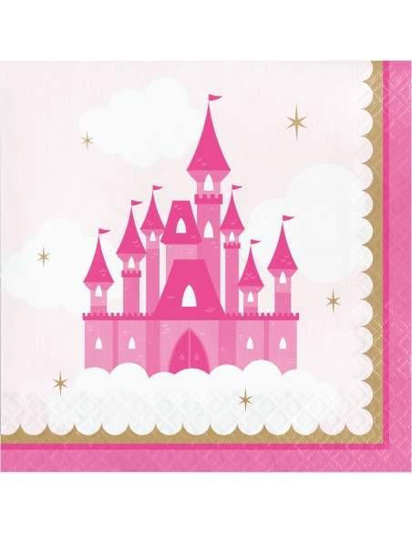 Pack décoration d'anniversaire princesse rose fille Biogato - 3