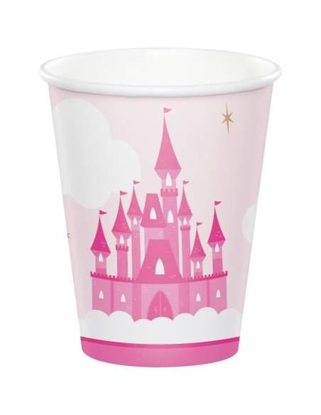 Pack décoration d'anniversaire princesse rose fille Biogato - 4