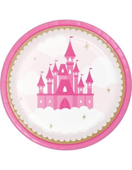 Pack décoration d'anniversaire princesse rose fille Biogato - 5