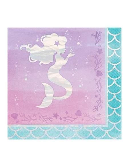 Pack décoration d'anniversaire sirène Ariel la petite sirène princesse Disney Biogato - 6