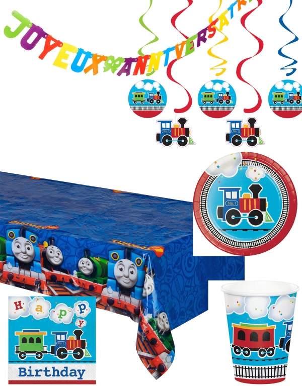 Pack décoration d'anniversaire Thomas le train et ses amis Biogato - 1