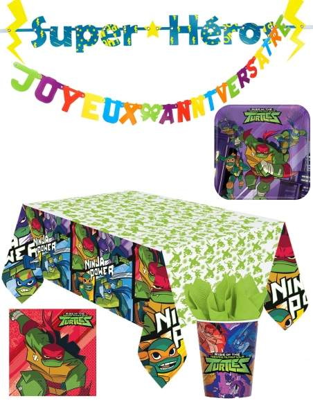 Pack décoration d'anniversaire Tortue Ninja Biogato - 1