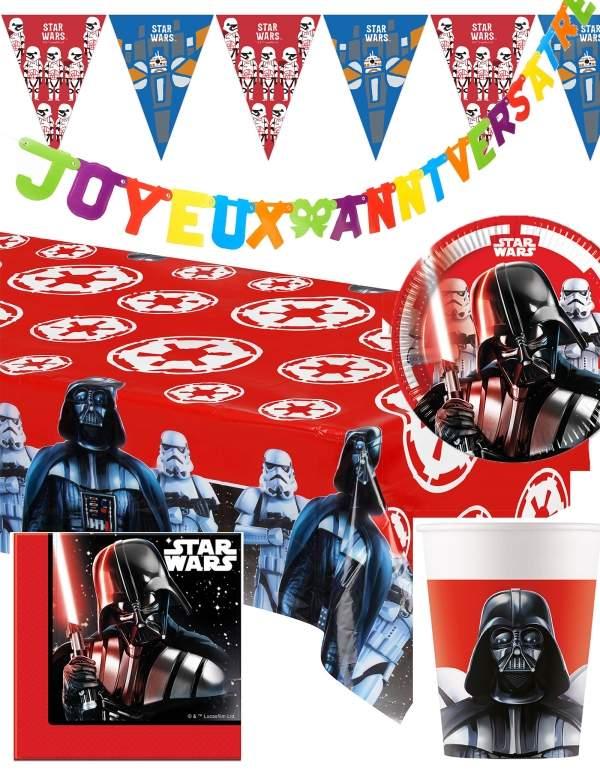 Pack décoration d'anniversaire Star Wars Dark Vador