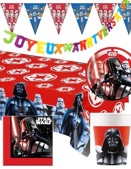 Pack décoration d'anniversaire Star Wars Dark Vador Biogato - 1