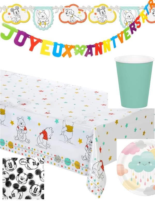 Pack décoration d'anniversaire Winnie l'ourson Disney Biogato - 1