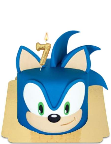 Gâteau Sonic boom géant, le hérisson super rapide vegan, sans gluten