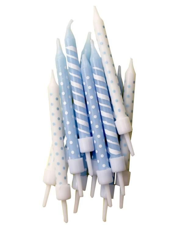 12 bougies d'anniversaire 7,5 cm