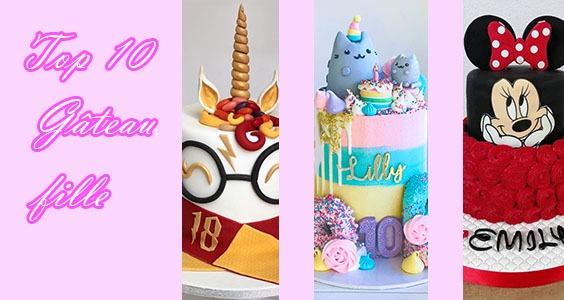 Top 10 des gâteaux d'anniversaire de petites filles