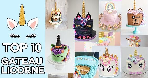 Top 10 des meilleurs gâteaux licorne !